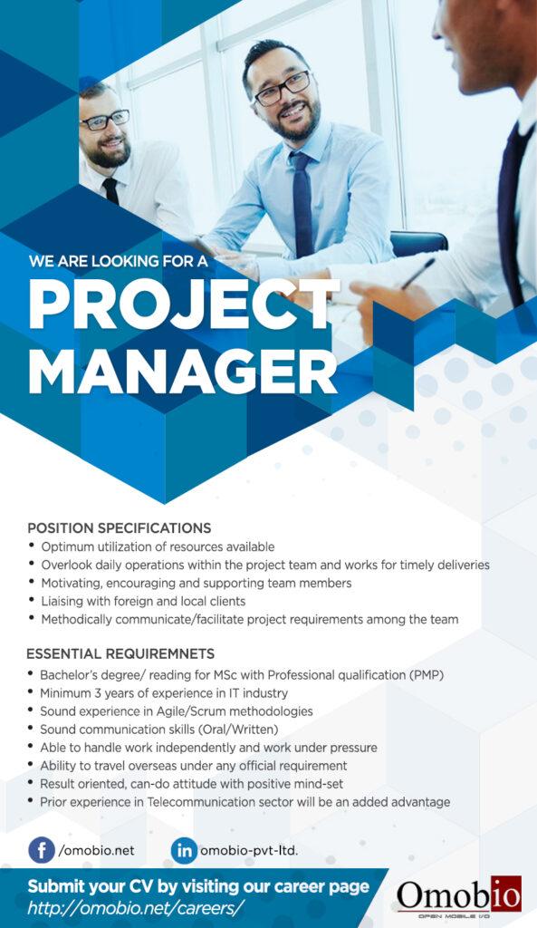 Project Manager - Sri Lanka IT Jobs